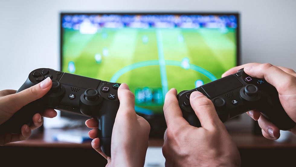 consoles jeux vidéos salon